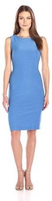 Julian Taylor Women's Sheath Pinktuck Sleeveless Dress