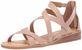 Lucky Brand Lucky Women's Helenka HIGH Heel Wedge Sandal Stone 11 M US