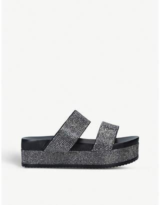 Carvela Konquer rhinestone-embellished leather sandals