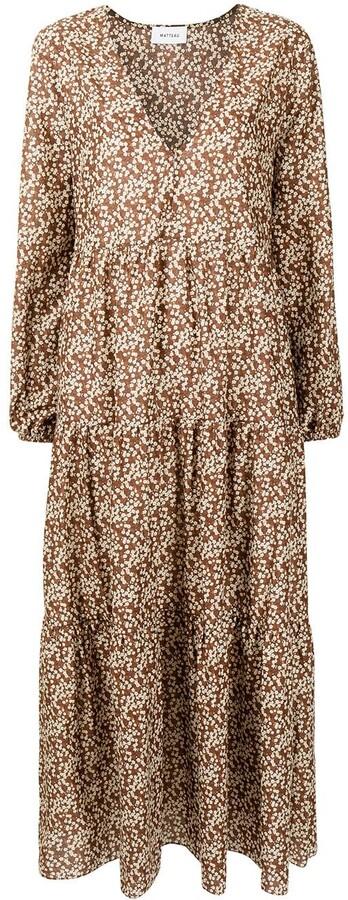 Matteau Floral Print Cotton Maxi Dress