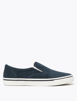 Marks and Spencer Suede Slip-On Pumps