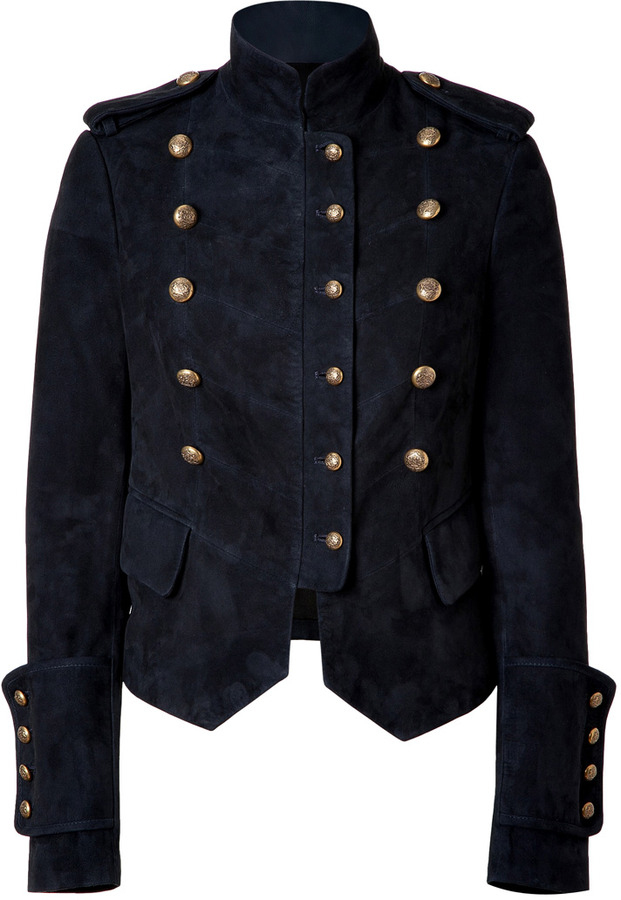 Joseph Navy Suede Nathe Jacket