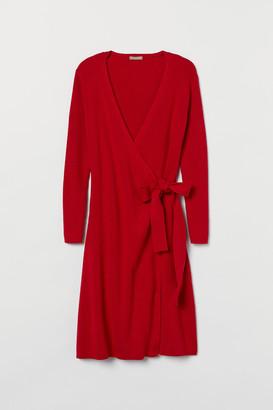 H&M H&M+ Knit Wrap Dress