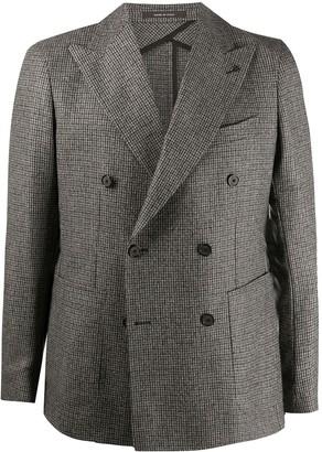 Tagliatore Checked Double-Breasted Wool Blazer