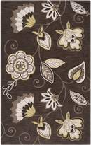 Surya IPR4001 Impressions Transitional Hand Tufted 100% Polyester Dark Brown Rug (5-Feet x 7-Feet 6-Inch )