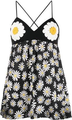 Boutique Moschino Daisy Print Tunic Top