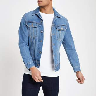 Lee Mens River Island Blue slim fit denim jacket