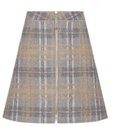 Acne Studios Prisca Check Tweed Wool And Mohair-blend Miniskirt