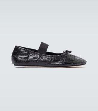 Marni Leather ballerina shoes