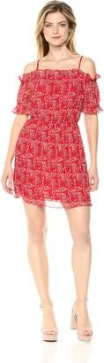 The Fifth Label Women's APRICITY Short Ruffle Sleeve Off Shoulder Mini Dress