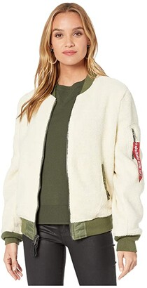 Alpha Industries L-2B Sherpa Flight Jacket (Light Cream) Women's Coat