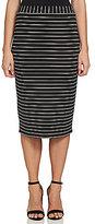 1 STATE Midi Striped Pencil Skirt