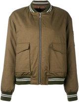 Liska - oversized pockets bomber jacket - women - Cotton/Rabbit Fur - M