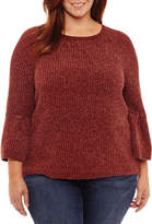 A.N.A a.n.a Long Sleeve Chenille Pullover Sweater-Plus