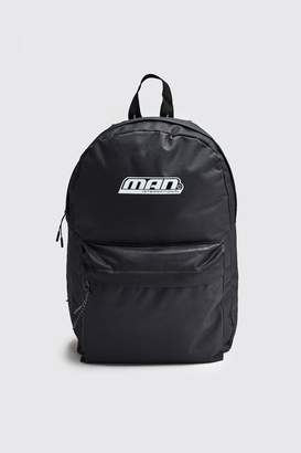 boohoo Man International Print Backpack