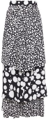 Paper London Lucia Tiered Printed Cady Midi Skirt