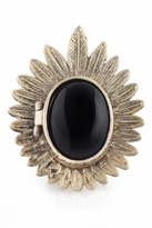 House Of Harlow Feather Cabochon Locket Ring