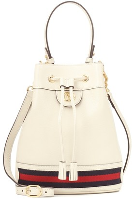 Gucci Ophidia Small leather bucket bag