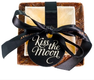 Kiss The Moon Glow Aromatherapy Soap With Amber Handmade Dish