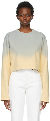 Acne Studios Blue and Yellow Cropped Sweatshirt