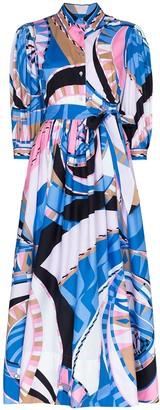 Emilio Pucci Wally print shirt dress