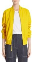 ADAM by Adam Lippes Women's Lambskin Leather Bomber Jacket