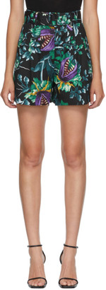 MSGM Multicolor Allover Print Bermuda Shorts