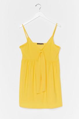 Nasty Gal Womens Tied Down Plus Strappy Mini Dress - Yellow - 22, Yellow