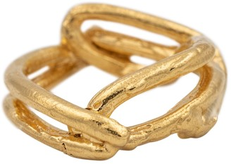 Alighieri The Beginning of the Plait 24kt gold vermeil ring