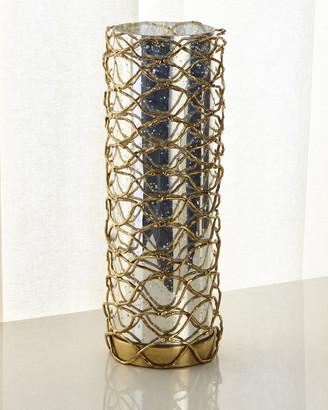 John-Richard Collection John Richard Collection Woven Brass Candleholder II