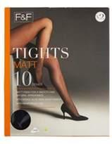 F&F 2 Pack of Matt 10 Denier Tights with Lycra, Women's