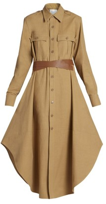 Stella McCartney Cargo Wrap-Belt Maxi Dress
