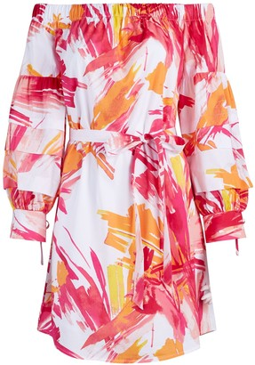 New York & Co. Off-The-Shoulder Poplin Shift Dress