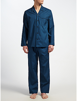 John Lewis Tile Print Pyjamas, Navy/blue