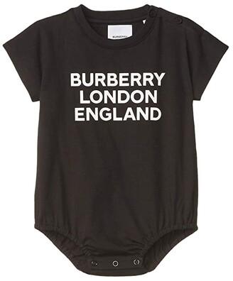 BURBERRY KIDS BLE Bodysuit (Infant) (Black) Kid's Clothing