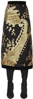 Ungaro Silk Blend Jacquard Fil Coupe Skirt