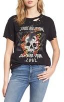 Women's True Religion Brand Jeans Skull Tour Tee
