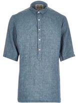 River Island MensGreen Holloway Road linen shirt