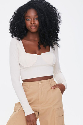 Forever 21 Ribbed Bustier Crop Top