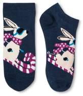Xhilaration Women's Low-Cut Socks Bunny Skiing