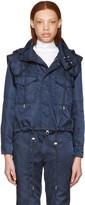 Versus Navy Nylon Hooded Jacket
