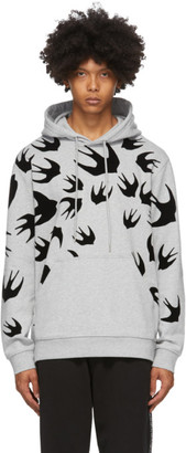 McQ Grey Swallows Hoodie