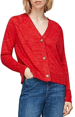 Whistles Relaxed V-Neck Knit Top