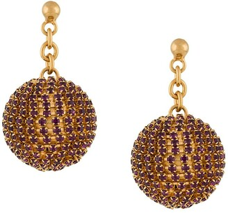Marni Crystal-Embellished Sphere Earrings