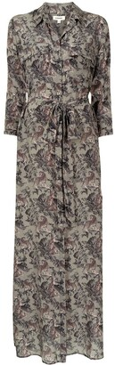 L'Agence Cameron floral-print shirt dress
