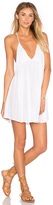 Indah Saffron Solid Mini Dress