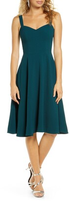 Dress the Population Alina Crepe Fit & Flare Cocktail Dress