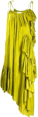 Marques Almeida Ruffled Slip Dress