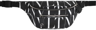 Valentino Vltn Times Print Nylon Belt Bag