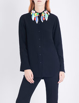 Christopher Kane Embellished crepe shirt
